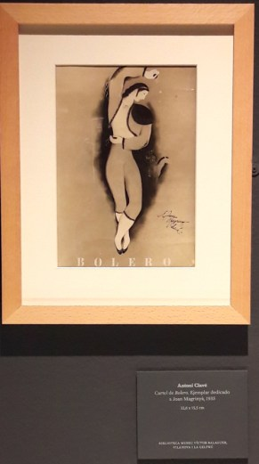 Cartell de Bolero de Antonio Clavé-dedicat a Joan Magrinya