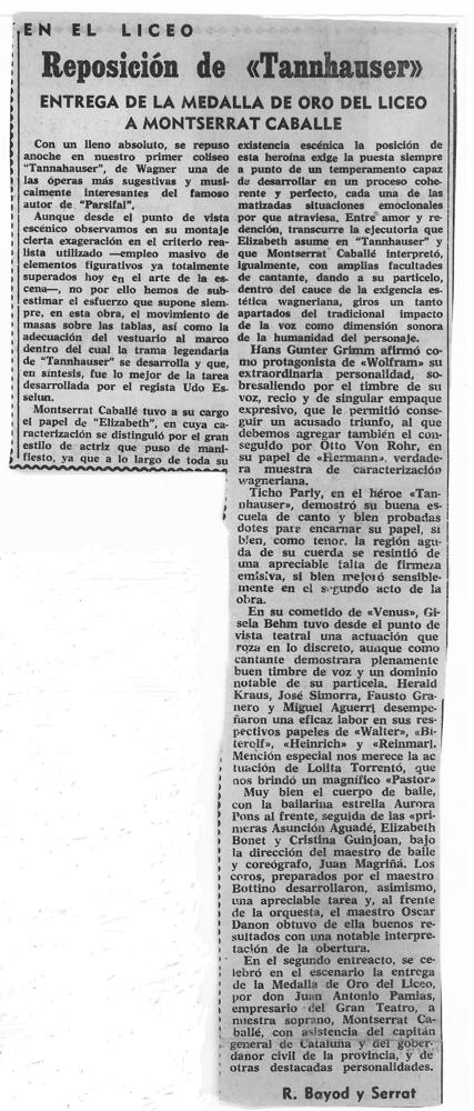 1966-01-22-TANNHAUSER-Montserrat Caballe-R Bayon y Serrat -