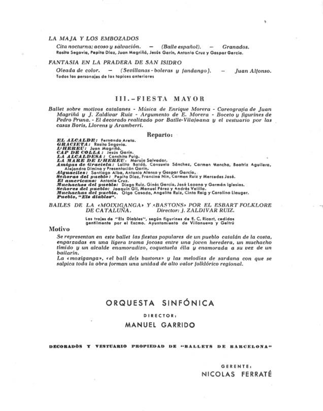 PBB-1951-03-19-Ballets de Barcelona-Teatro Calderon-2