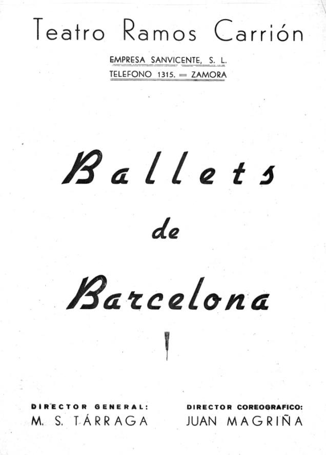 PBB-1951-06-19-Ballets de Barcelona-teatro Ramos Carrion-Zamora-0