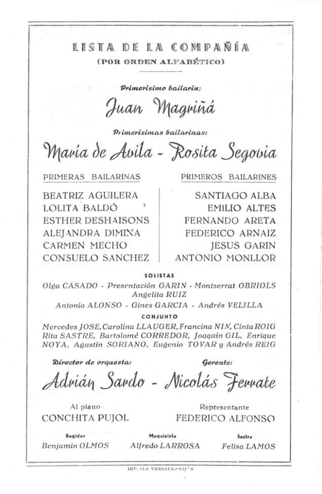 PBB-1951-07-06-Ballets de Barcelona-Teatro Campoamor-Oviedo-1