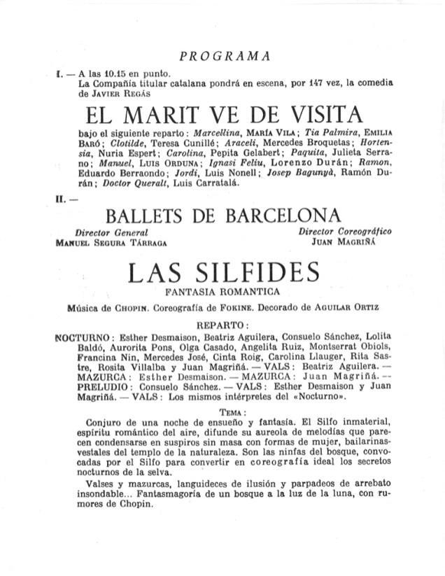 PBB-1952-01-16-Ballets de Barcelona-Teatro Romea(Barcelona)-Homenaje que el Teatro Catalan les rinde-1
