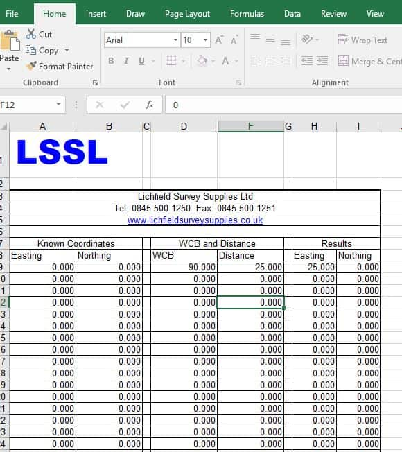 LSSL Traverse Spreadsheet