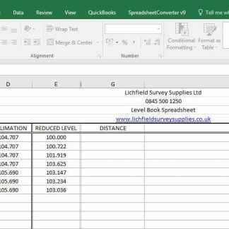 Level Book Spreadsheet