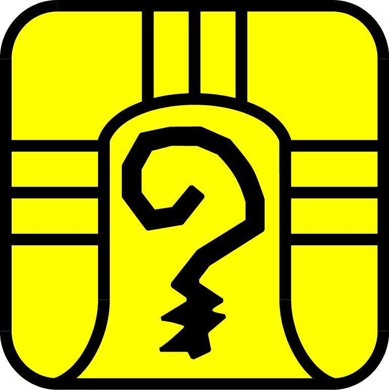 Gelber Krieger-Symbol