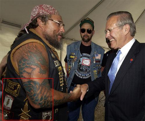 Rumsfeld und Biker