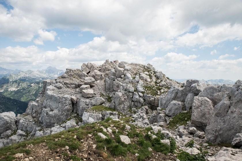 Der Gipfel des Krn in den Julischen Alpen