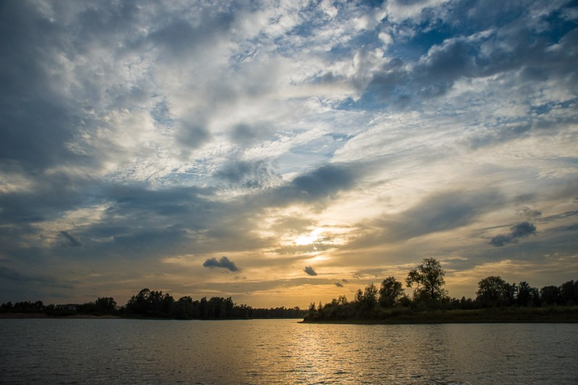 Sonnenuntergang in der Millingerwaard