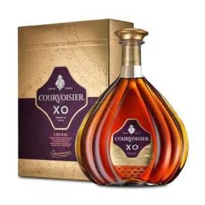 La etiqueta de coñac Courvoisier