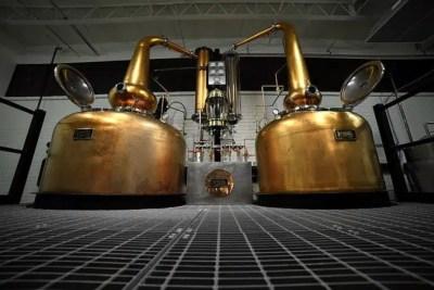 Destilería de bourbon.