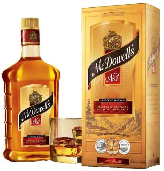 McDowell 'sNo.1, whisky indio que se mantiene entre las marcas más vendidas