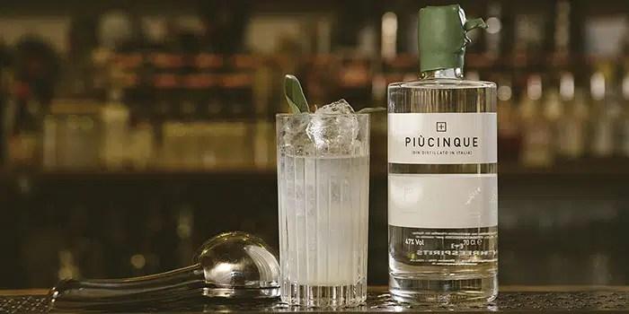 Piucinque, un gin clásico italiano con final largo, seco y exquisito