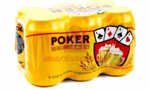 cerveza poker x  6 unidades lata 330