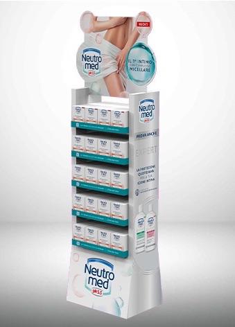 Progettazione e realizzazione Display da terra Neutromed per Henkel