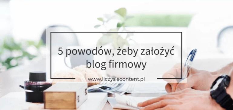 po co blog firmowy