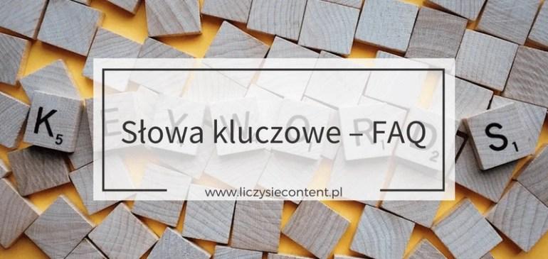 Słowa kluczowe dla początkujących– FAQ