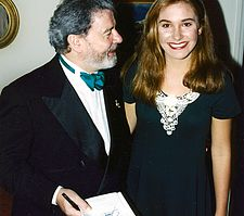 Federico's daughter Lindsay with James Galway @ Duke University. Lindsay performed with LSO on all Federico's albums.