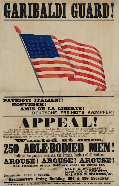 Garibaldi Guard recruitment poster