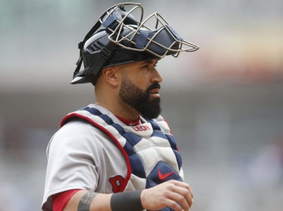 Sandy Leon is uploaded by the Marlins