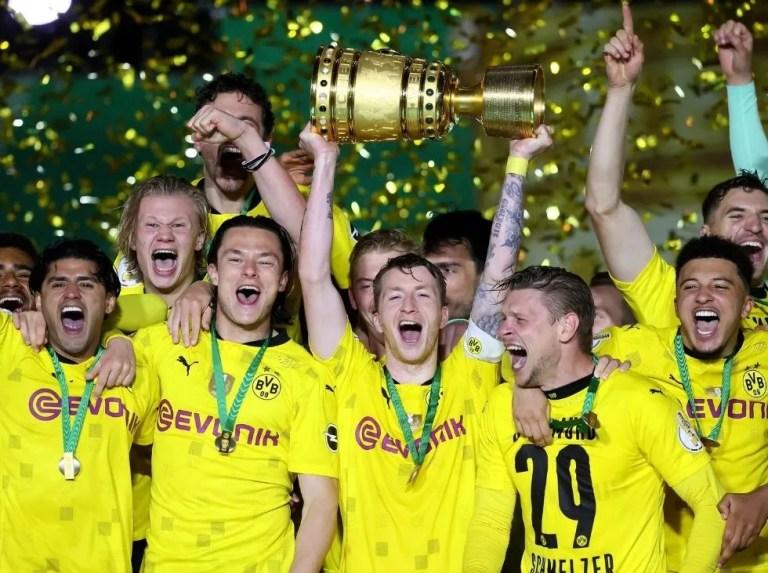 Dortmund se coronó en la Copa de Alemania con goleada al Leipzig