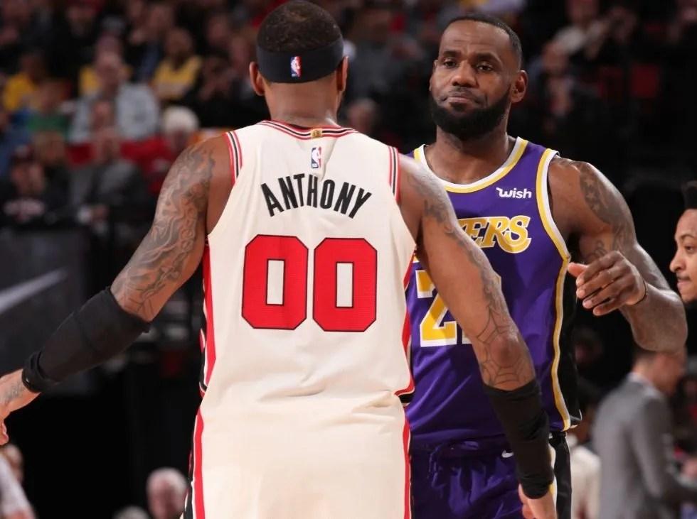 Carmelo Anthony se reúne con LeBron en los Lakers