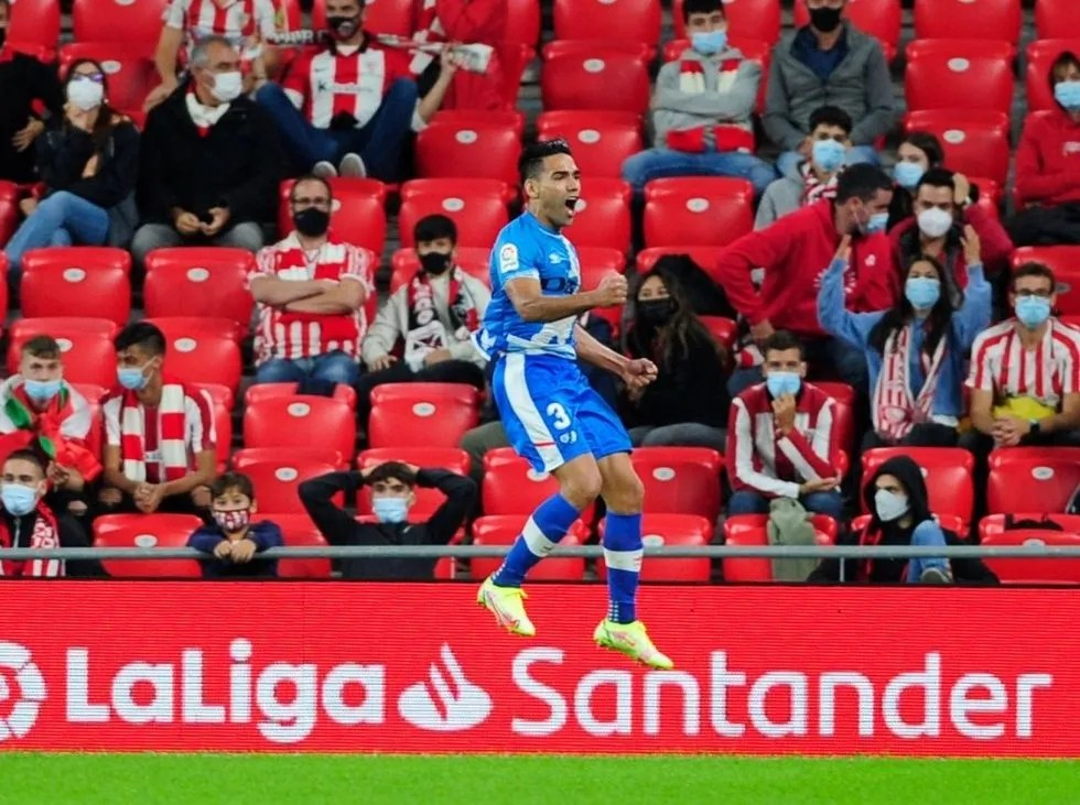 Falcao anotó el gol de la victoria en San Mamés