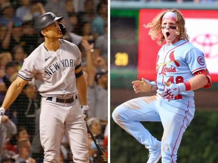 Stanton and Bader MLB Penultimate Week Players