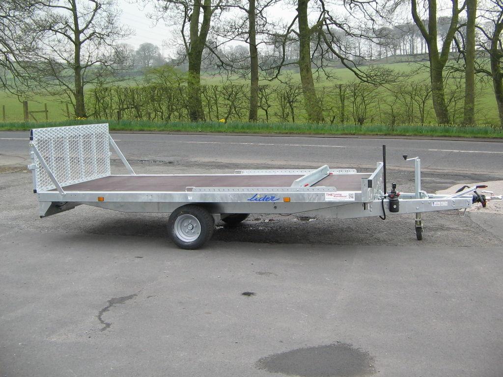 Lider 12 x 6 Tilt Bed Car/Multi Transporter Trailer - Lawnmowers/Micro  cars/Trikes