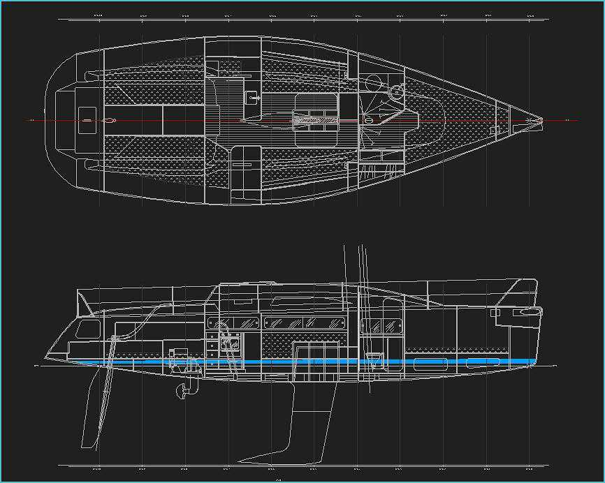 36 Ft Racing Cruising Mono Hull Sailing Yacht Lidgard Design
