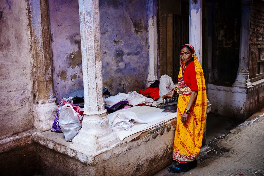 Laundry Lady in Varanasi