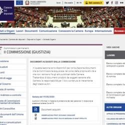 Camera dei Deputati relazione privacy