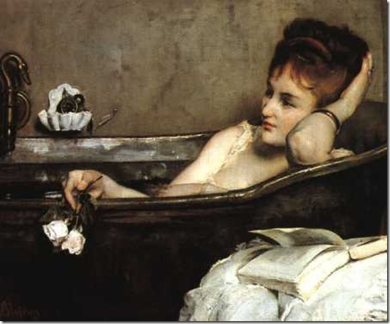 le bain: artwork by alfred stevens