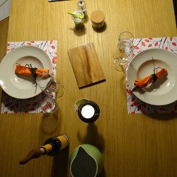 Wir geniessen einen Abend zu zweit.