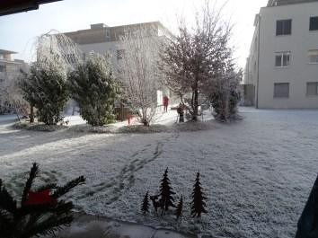 Durch die Kälte und den Schnee, fast wie auf dem Eisfeld.
