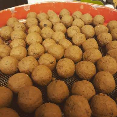 Seeballs am Trocknen