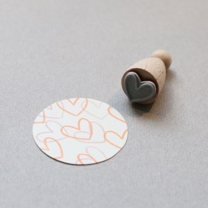Perlenfischer Stempel Big Heart outline K020