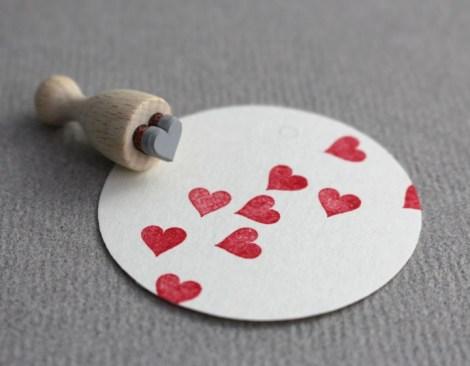Perlenfischer Stempel Herz mini F004