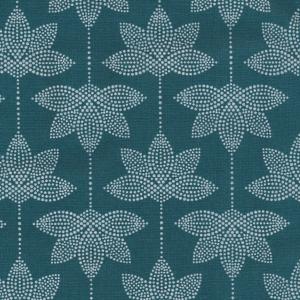 au maison coated fabric lotus dusty petrol 900-140-061-510-3