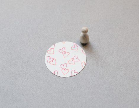 Perlenfischer Stempel Herz outline mini F055