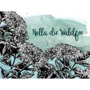 Waldgraefin Postkarte Holla die Waldfee 18117