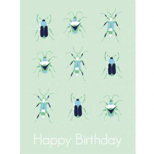 Waldgraefin Postkarte Käfer Birthday 16011