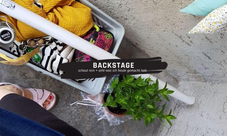 Backstage Freitag 12. Juni 2020