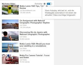 YouTube Autoplay - Erklärung