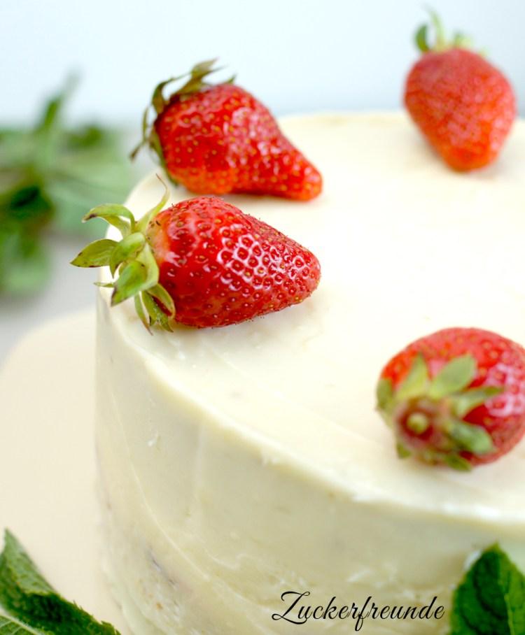 Erdbeer-Mascaropone Torte