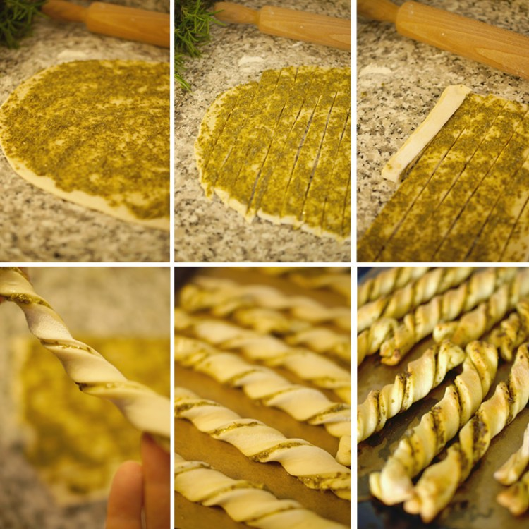 Foto Tutorial Twisted Pesto Grissini