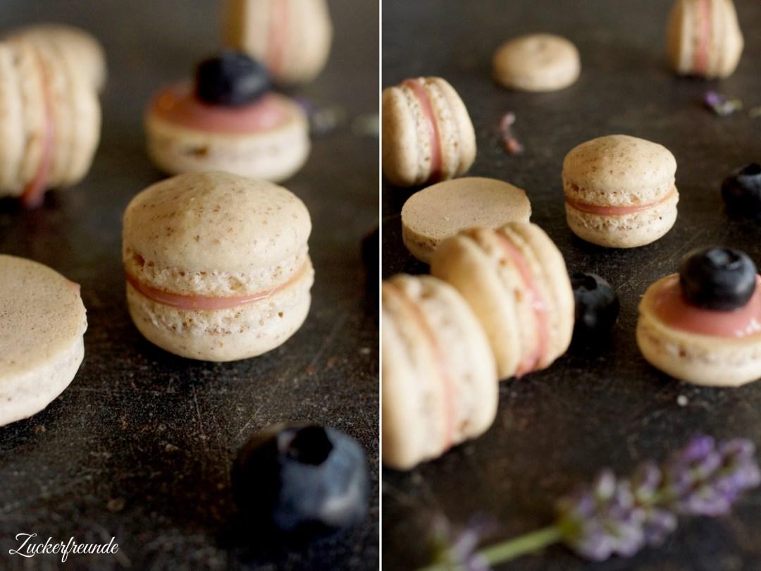 Heidelbeer Macarons