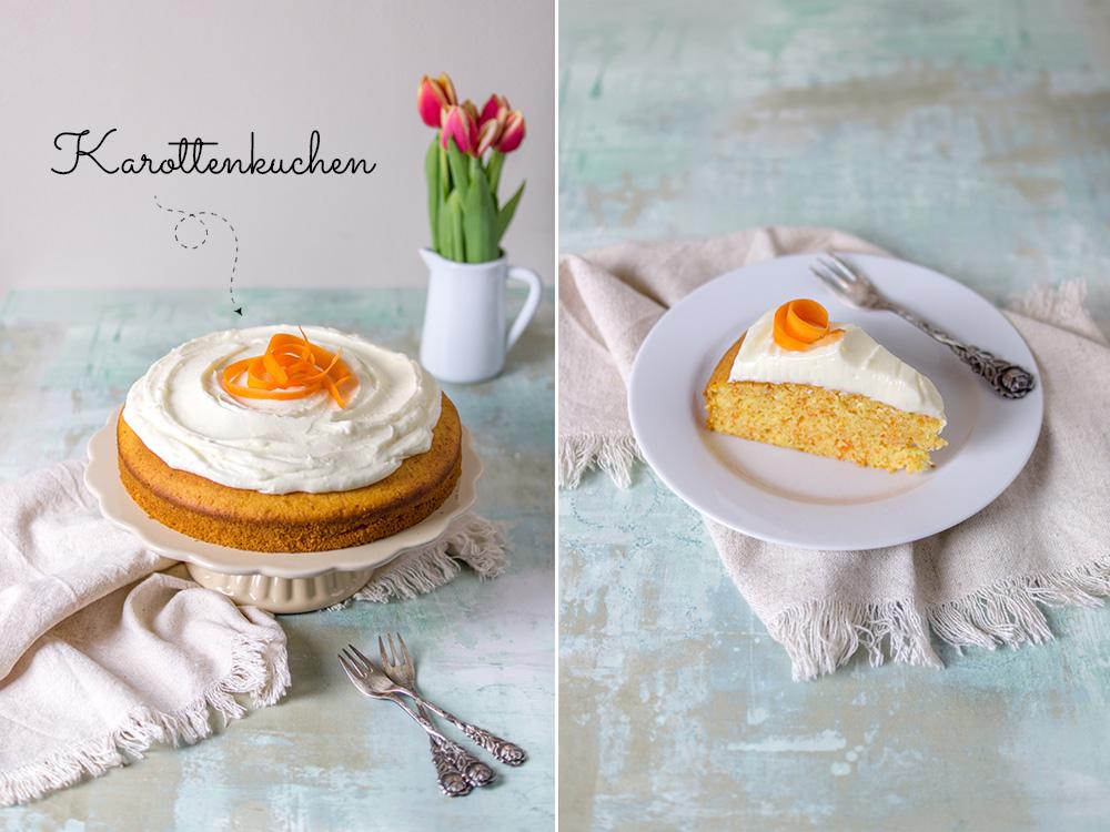 Karottenkuchen mit Frischkäse-Creme | 10+ Rezeptideen für Ostern