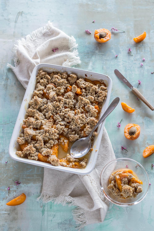 Aprikosen Crumble - schnelles Rezept