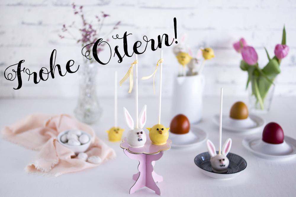 Frohe Ostern - Postkarte und Anhänger gratis dowloaden
