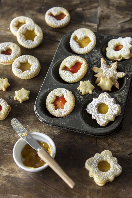Rezepte für Weihnachtskekse - Linzer bzw. Spitzbuben
